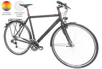 Maxcycles Monza 9800G matt black + Optik Paket rot 57cm